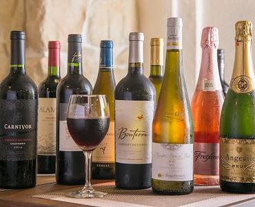 リーズナブルなものから高級ワインまで20種類以上を常備しておりますので、お気軽にご相談ください。